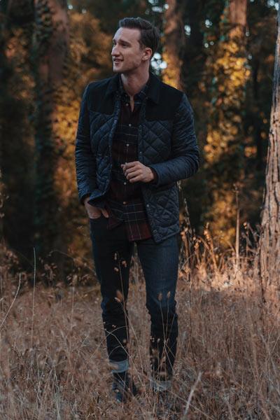 style workwear veste matelassée