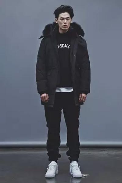 parka homme tenue urbaine