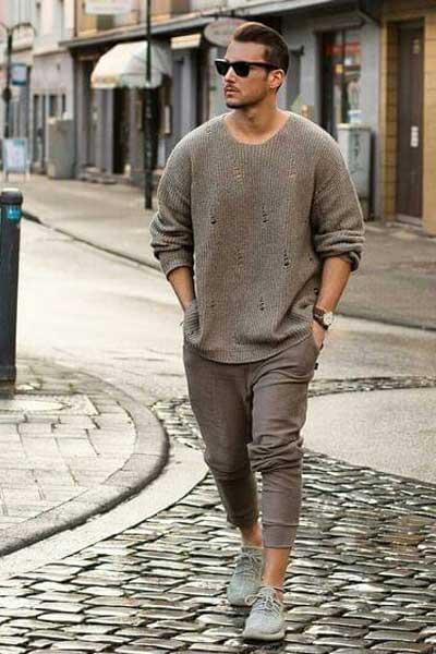 tenue homme avec des yeezy