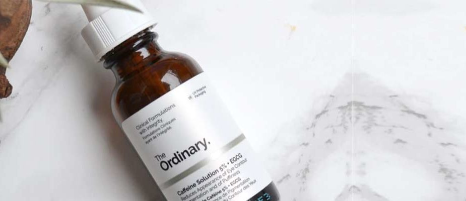 avis caffeine solution 5% + EGCG The ordinary