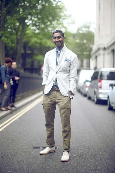 pantalon cargo avec chaussures habillées