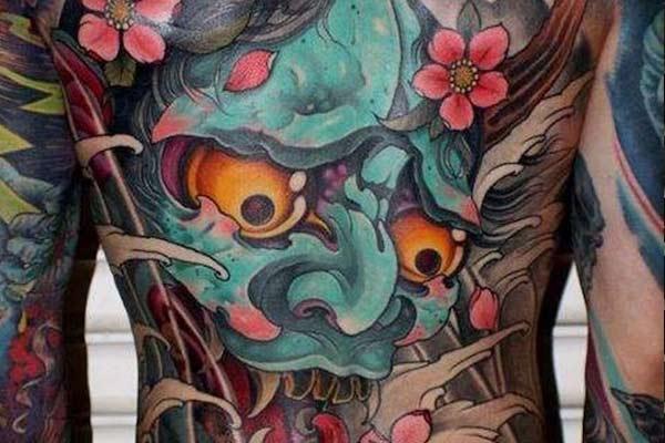 tatouage yakuza oni