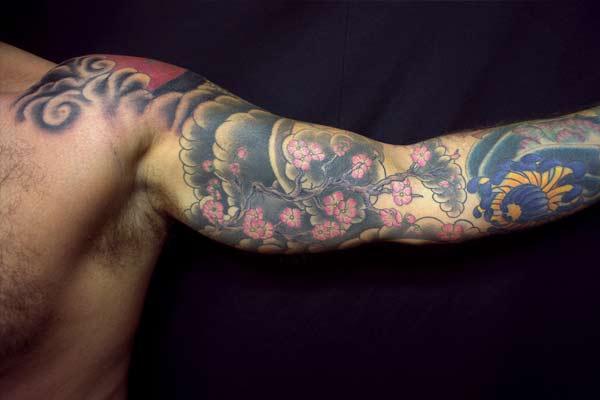 tatouage yakuza sakura