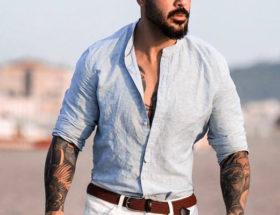 porter chemise lin homme