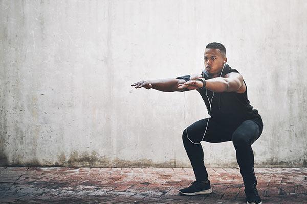 air squat exercice pour les quadriceps