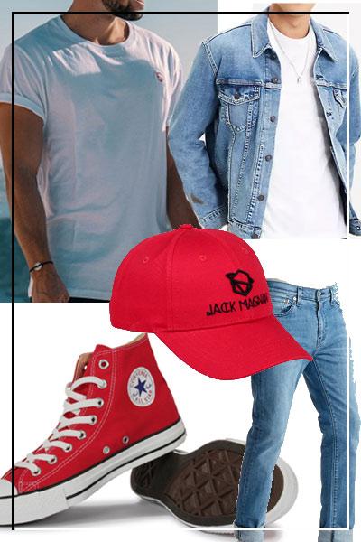 tenue casquette rouge jack magnan