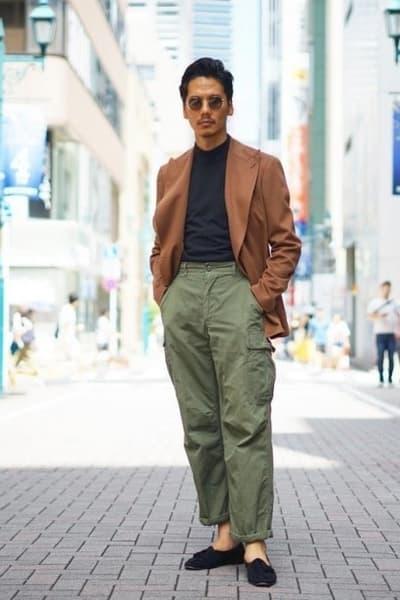 pantalon taille haute homme