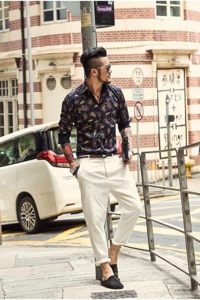 pantalon taille basse homme