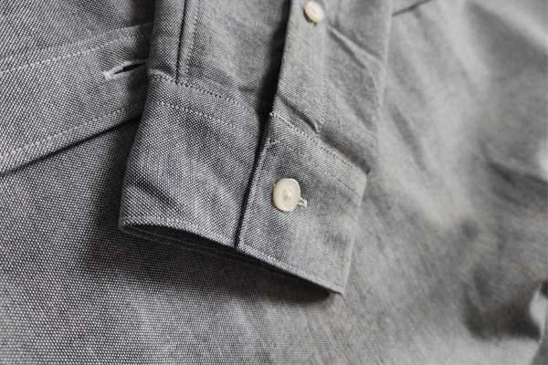 manchette carré chemise chambray the nines