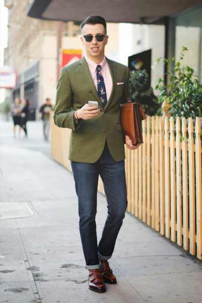 porter veste kaki homme blazer