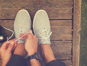 chaussures en toile homme